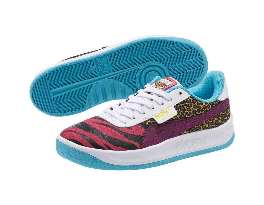 4f50d530c0e92 Lyst - PUMA California Animal Sneakers in Purple - Save 4%
