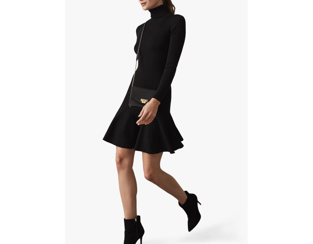 f9498e36ec Reiss Mimi Flippy Hem Dress in Black - Save 54% - Lyst
