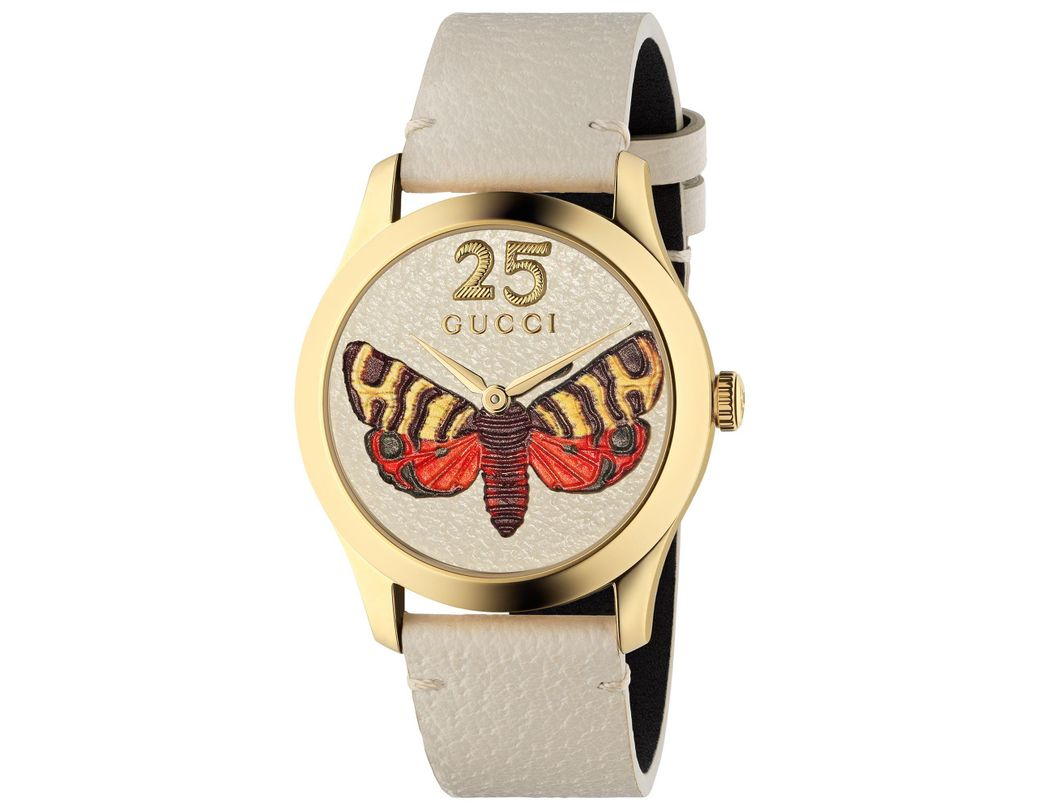 b3de4ea739c Long-Touch to Zoom. Long-Touch to Zoom. 1  2  3  4  5. Gucci - White  Ya1264062a Women s G-timeless Leather Strap Watch ...