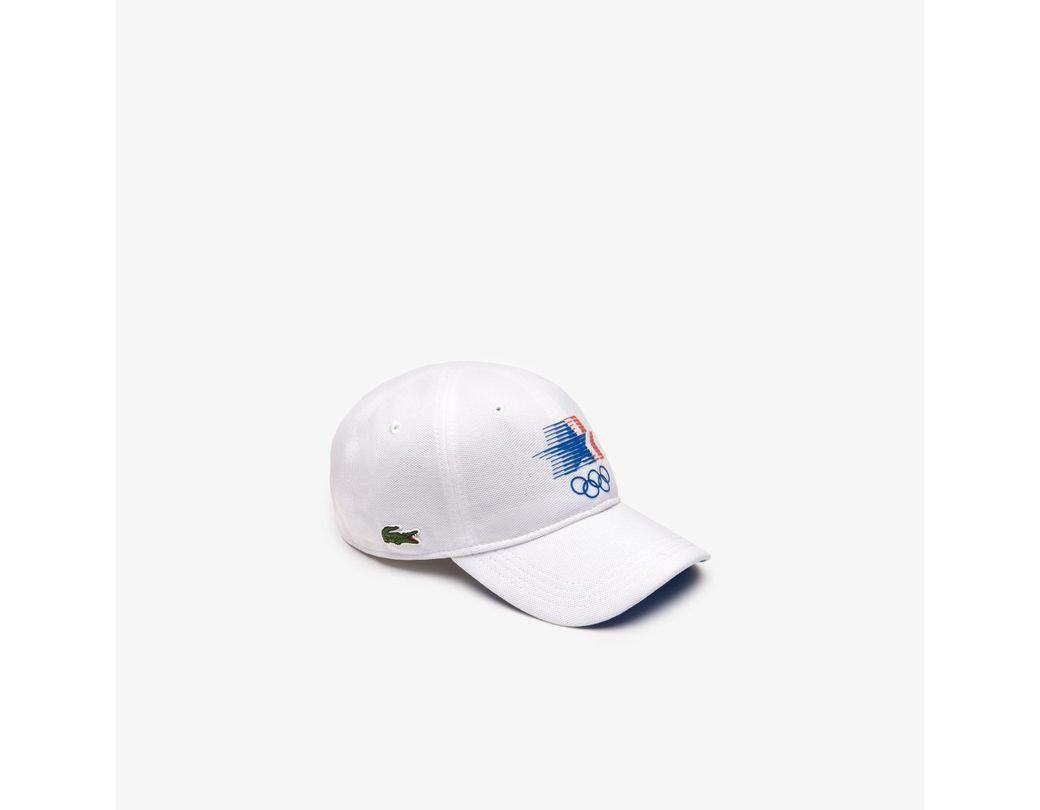 7f65299e2e3c90 Lyst - Lacoste Olympic Heritage Collection Cotton Cap in White for Men