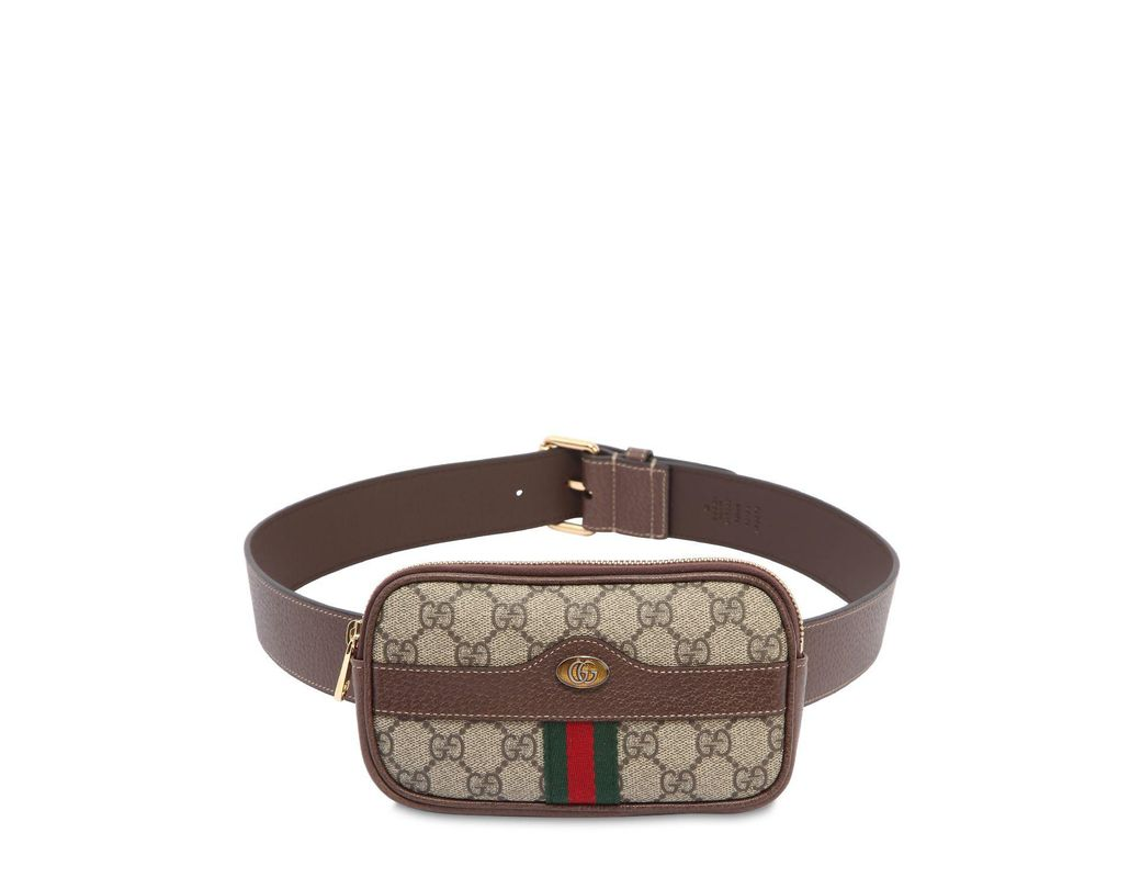 db087917eae Lyst - Gucci Mini Ophidia Gg Supreme Belt Bag in Natural