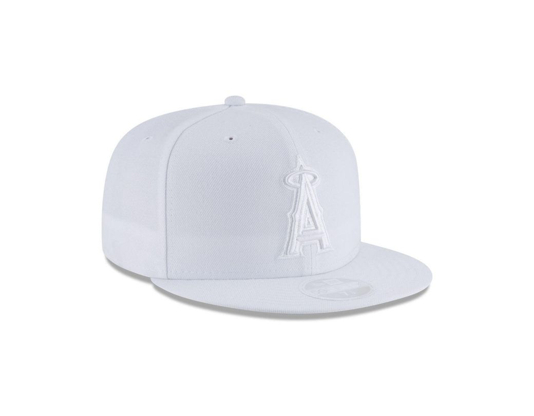 wholesale dealer fb7c2 dc1f4 KTZ Los Angeles Angels White Out 59fifty Fitted Cap in White for Men - Lyst