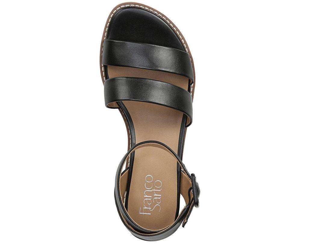 9aa9cf2fdbf4 Franco Sarto Connolly Wedge Sandals in Black - Lyst