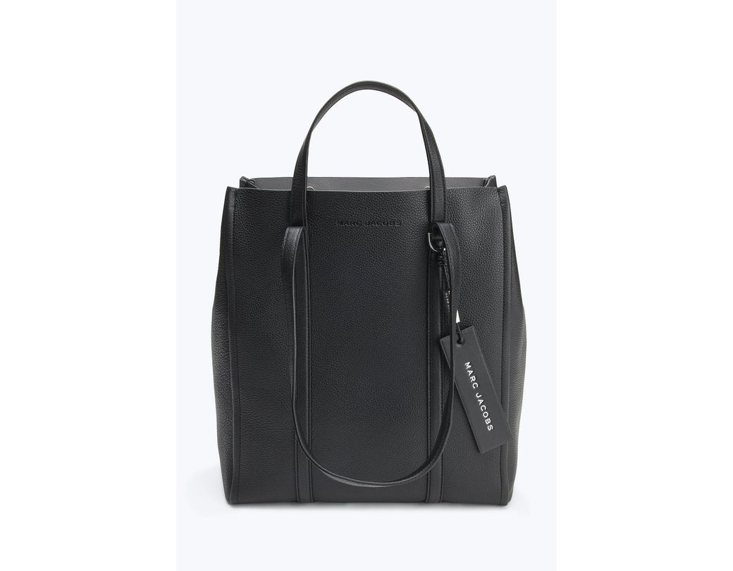 0dd91963ea18 Lyst - Marc Jacobs The Tag 31 Leather Tote Bag in Black