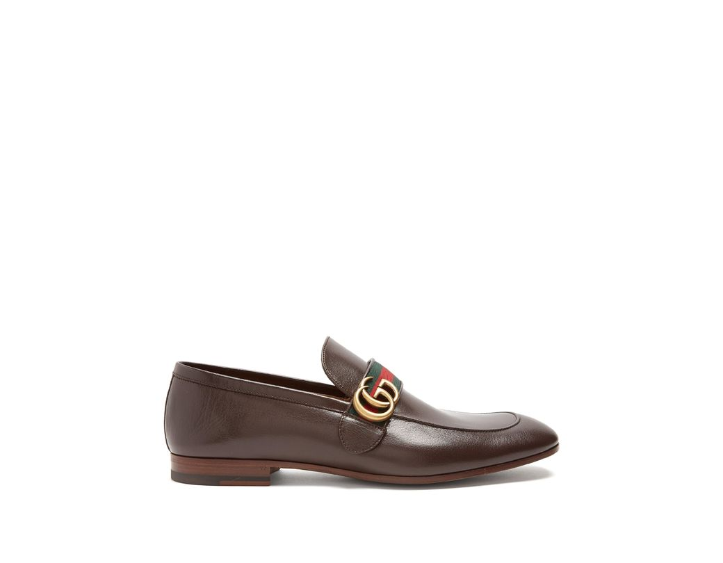 4bec584f00d Gucci Donnie Gg Leather Loafers in Brown for Men - Save 10% - Lyst