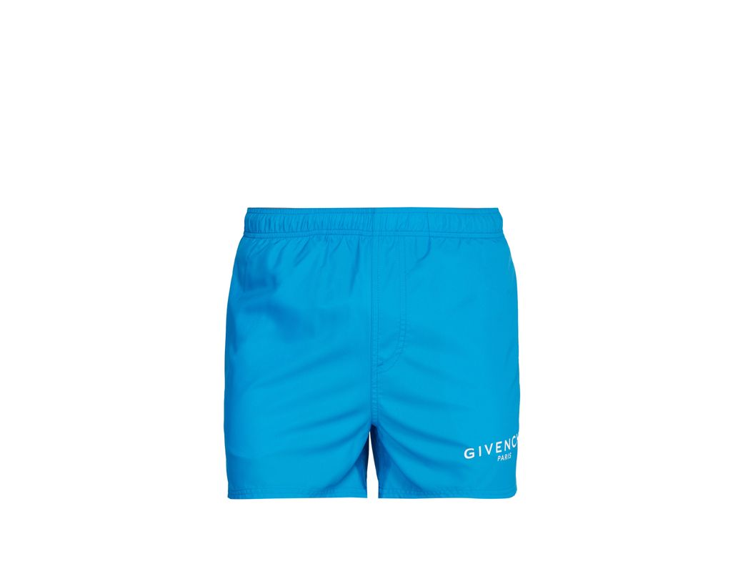 8322d3cb297604 Givenchy Logo Printed Swim Shorts in Blue for Men - Lyst