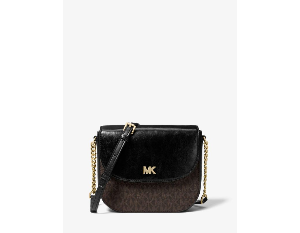 c010e81cbc10 Long-Touch to Zoom. Long-Touch to Zoom. 1  2  3. MICHAEL Michael Kors -  Multicolor Mott Logo And Leather Dome Crossbody Bag - Lyst ...