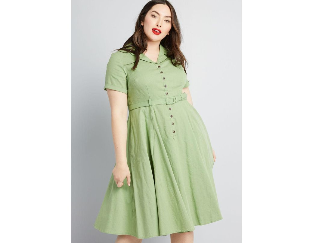 4d0acf5e961 Collectif X Mc Cherished Era Shirt Dress in Green - Lyst
