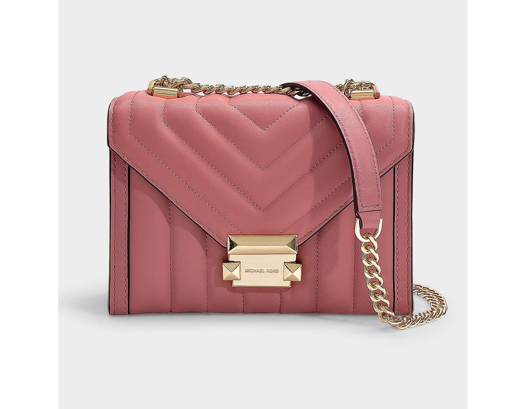 f00aeea1088a Lyst - MICHAEL Michael Kors Whitney Small Shoulder Bag In Rose ...