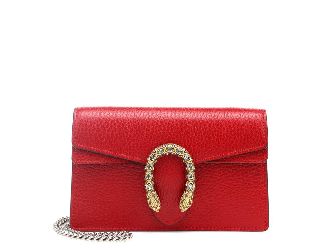 49c022fc9a2 Lyst - Gucci Dionysus Super Mini Shoulder Bag in Red