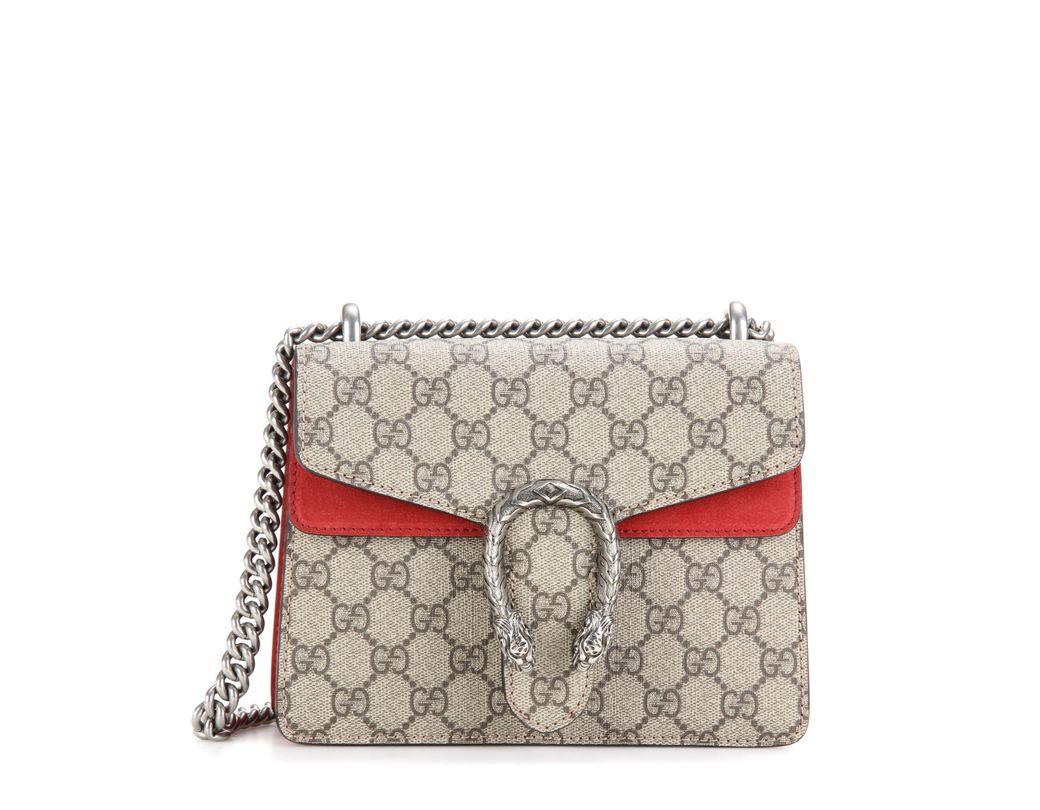80fec23a271 Gucci Dionysus GG Supreme Mini Shoulder Bag in Natural - Lyst