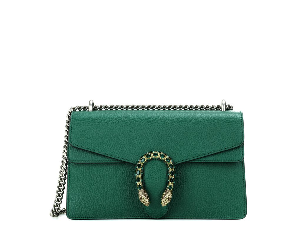 bc10de1c1d8 Lyst - Gucci Dionysus Small Leather Shoulder Bag in Green