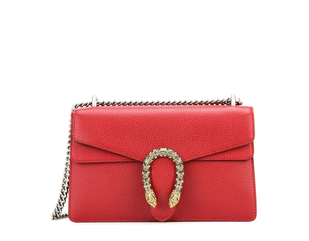 12c10d1936d Lyst - Gucci Dionysus Small Leather Shoulder Bag in Red