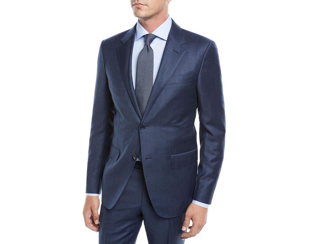 b8abcb8791dcd Lyst - Ermenegildo Zegna Men's Solid Wool Two-piece Suit in Blue for Men