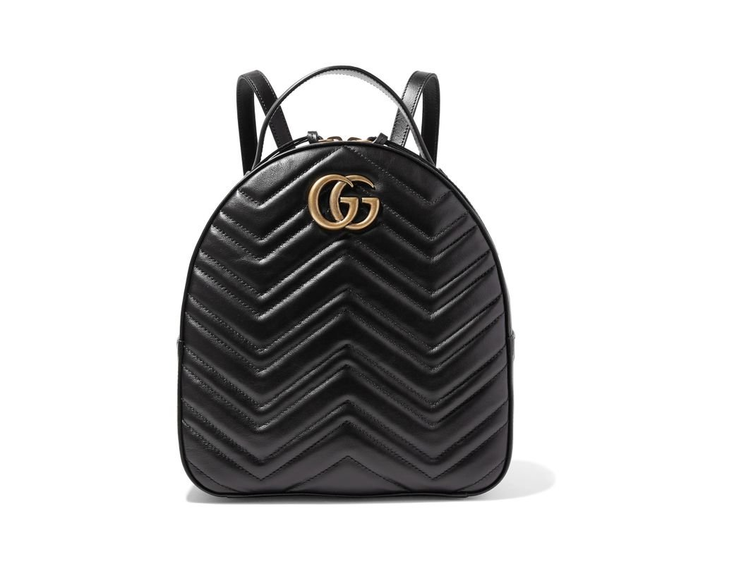 db45427aba3 Lyst - Gucci Gg Marmont Quilted Leather Backpack in Black - Save 5%