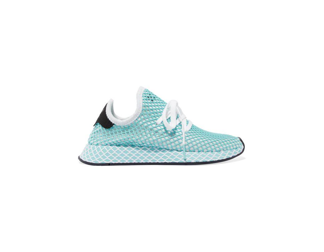 ba259e39f983d adidas Originals + Parley Deerupt Runner Suede-trimmed Mesh Sneakers ...