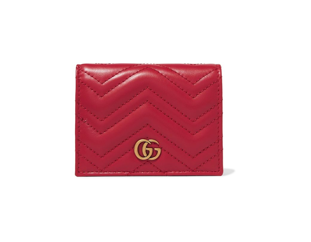 4427c67eb64 Lyst - Gucci Gg Marmont Small Quilted Leather Wallet in Red - Save 19%