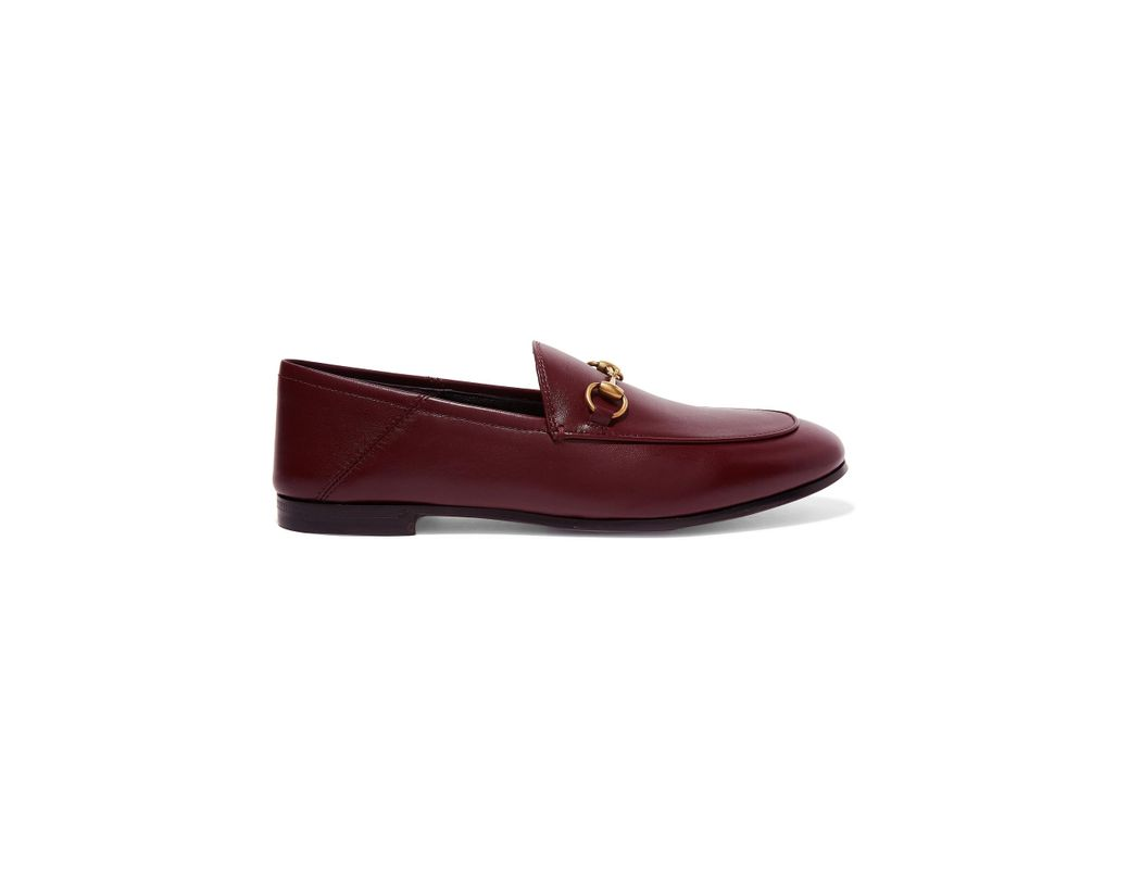 1588c2e7ae8 Gucci. Women s Brixton Horsebit-detailed Leather Collapsible-heel Loafers