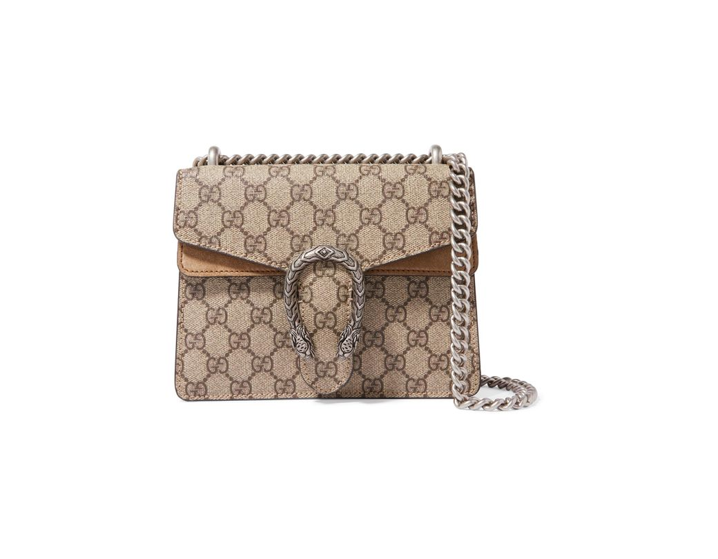 5d79f7b4712 Gucci. Women s Brown Dionysus Mini Printed Coated-canvas And Suede Shoulder  Bag