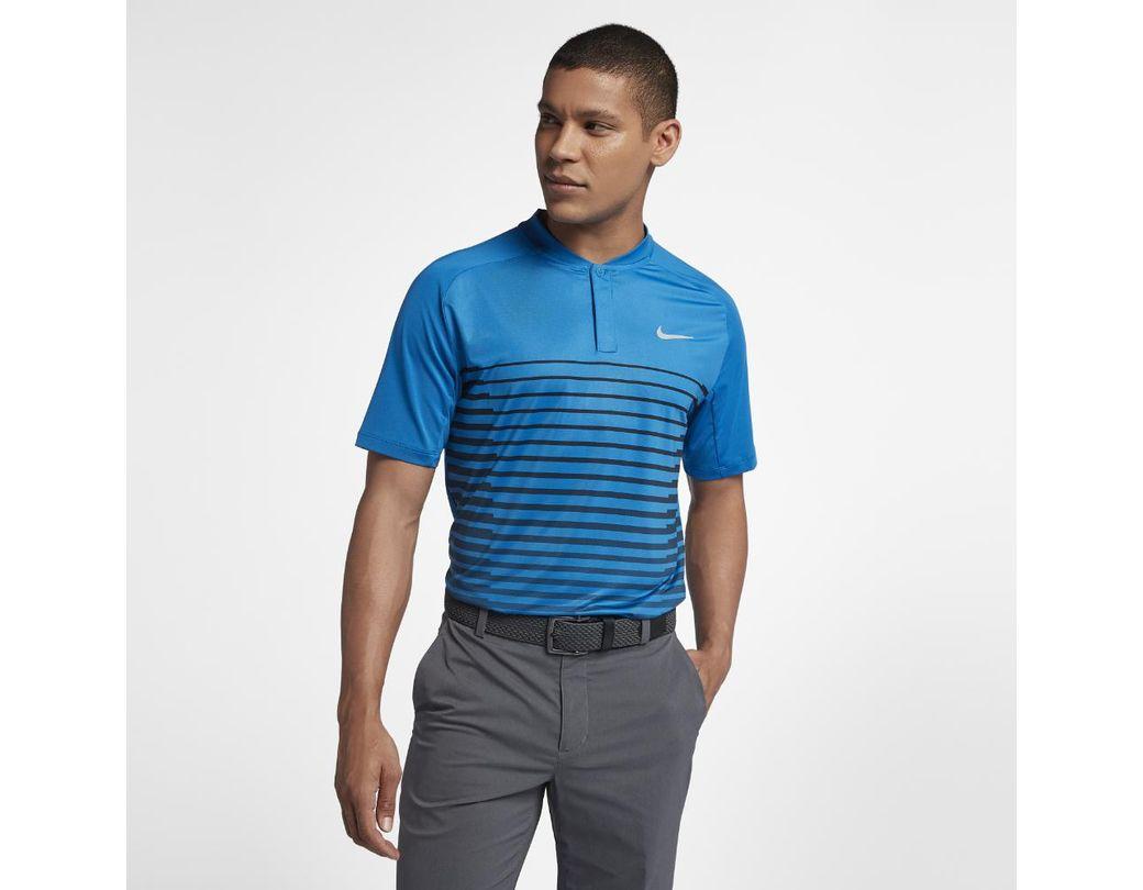 d16372850d295 Lyst - Nike Tw Men's Golf Polo Shirt in Blue for Men