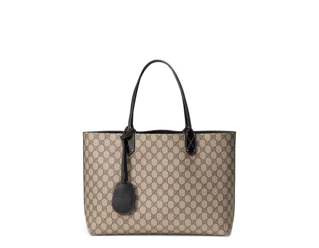 4b0eadd22c6 Lyst - Gucci Turnaround Medium Reversible Leather Tote - None