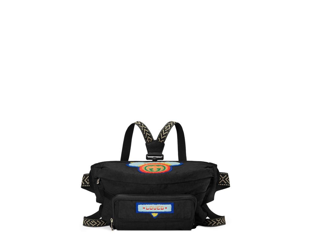 2b341fd33d8 Lyst - Gucci Belt Bag With  80s Patch in Black for Men