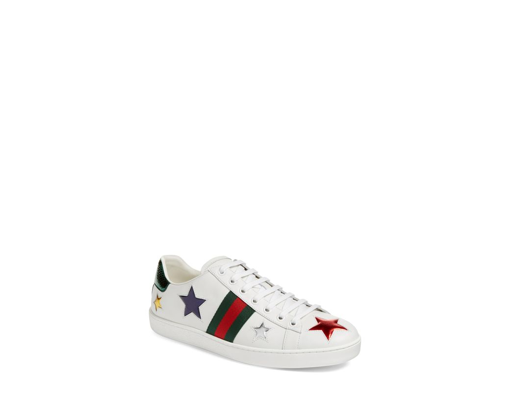 3b61a718457 Long-Touch to Zoom. Long-Touch to Zoom. 1  2. Gucci - White New Ace Star  Sneaker - Lyst ...