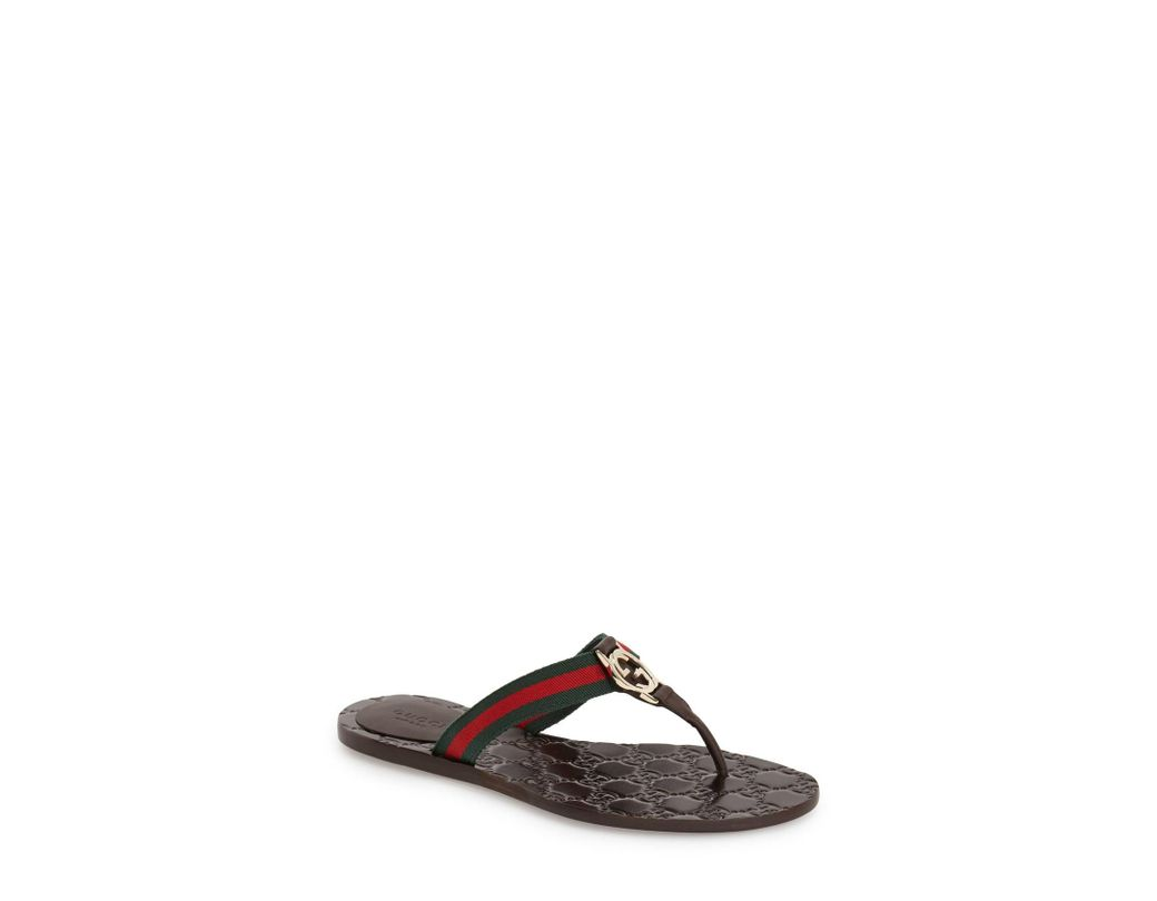 41084296836 Lyst - Gucci  Gg  Logo Sandal in Brown