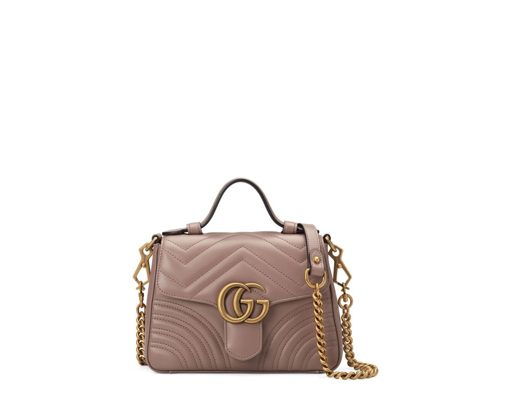 fbe797e3e9b Lyst - Gucci Small Gg Marmont 2.0 Matelassé Leather Top Handle Bag ...