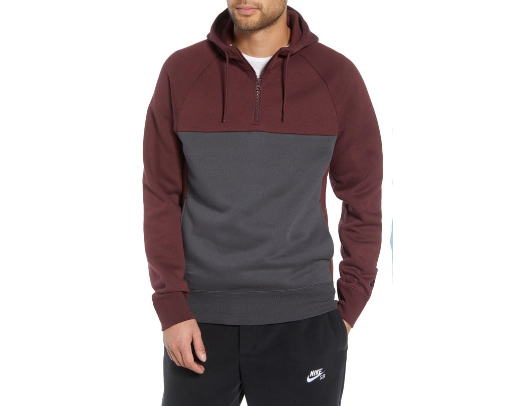 0f53fc8bc Lyst - Nike Colorblock Hoodie in Gray for Men