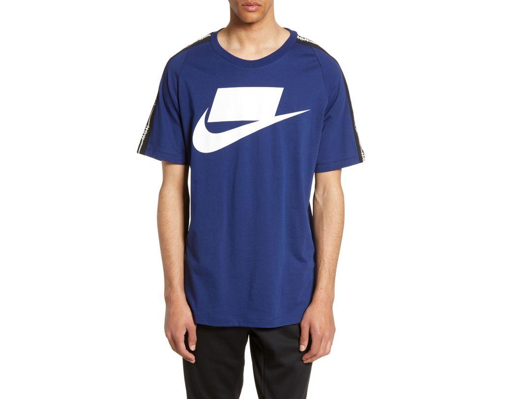 a136fab2c Lyst - Nike Sportswear Nsw Logo T-shirt in Blue for Men