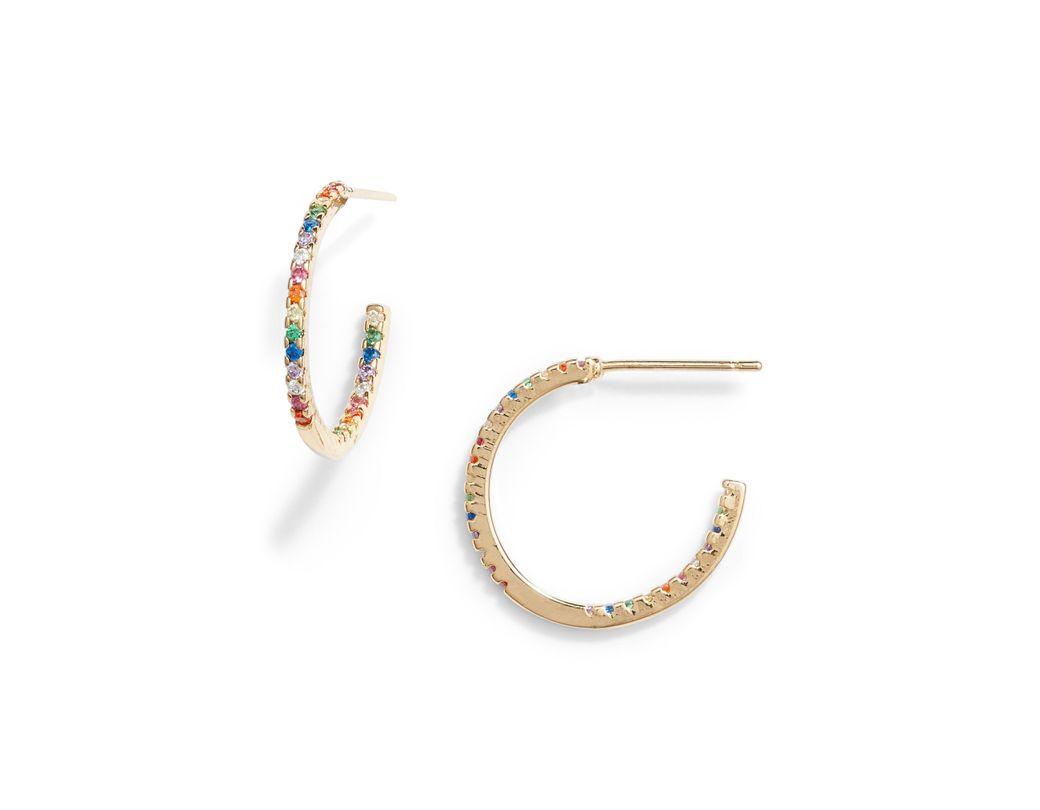 1cd411ae49210 Lyst - 8 Other Reasons Paula Pavé Hoop Earrings
