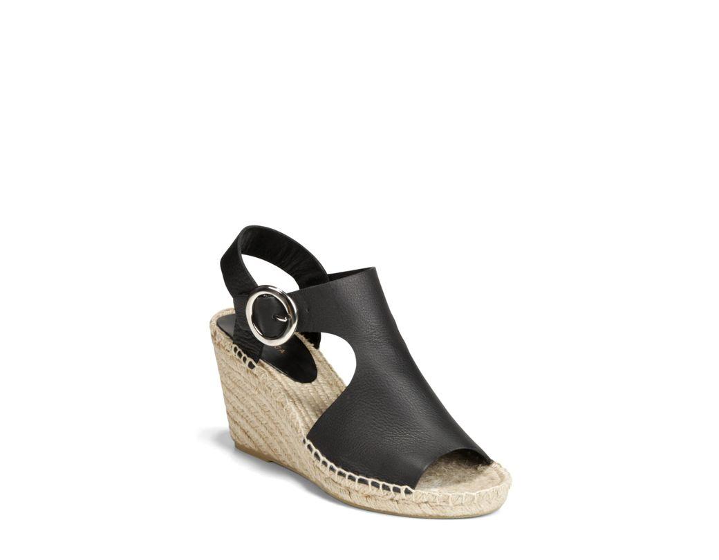 b5e57d636e Lyst - Via Spiga Nolan Espadrille Wedge Sandal in Black