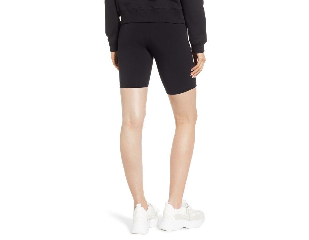 2273e7d06b Hue High Waist Cotton Blend Bike Shorts in Black - Lyst