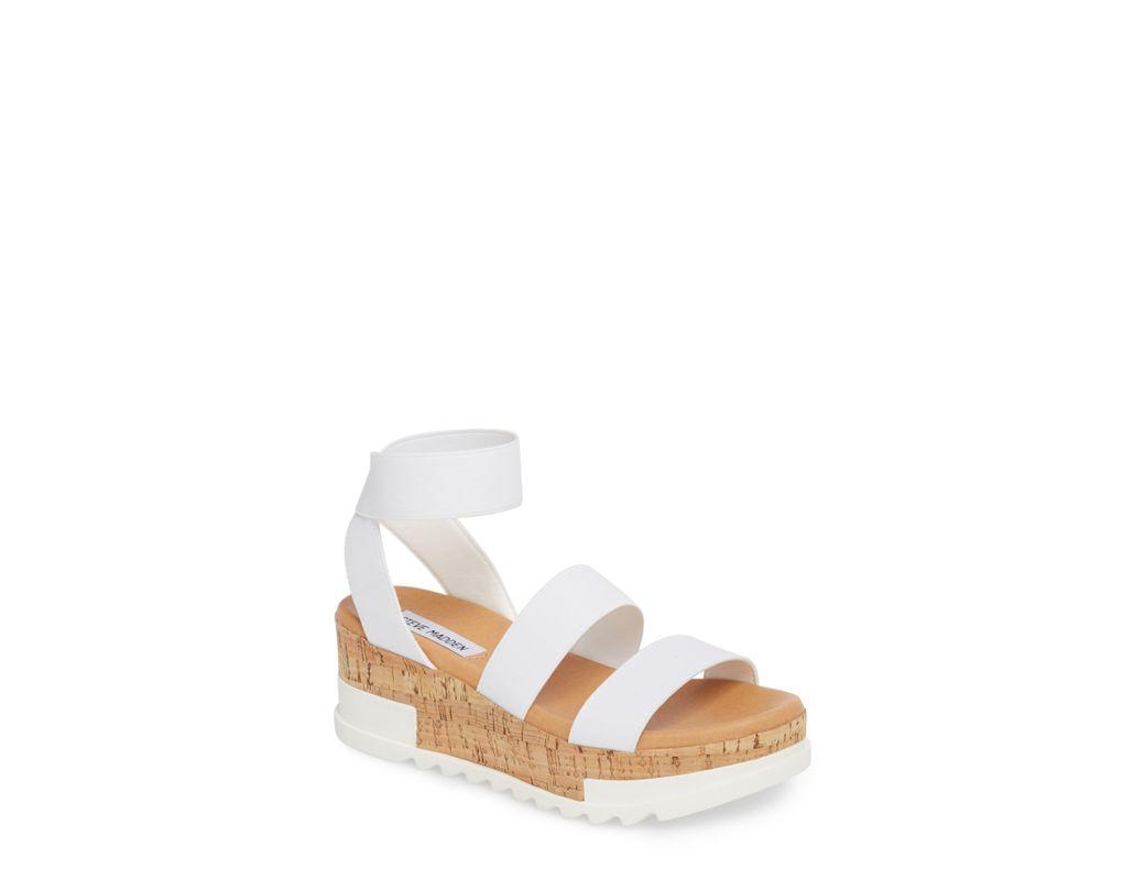 7b80d45373f4 Lyst - Steve Madden Bandi Platform Wedge Sandal in White