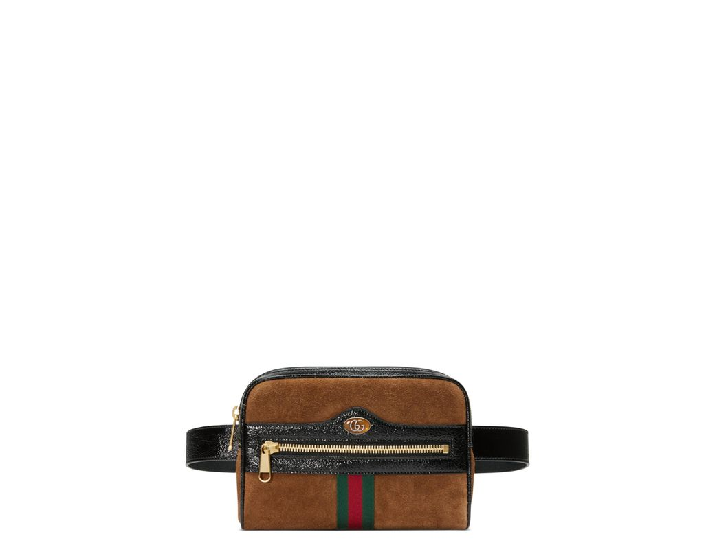 abf3994d071 Long-Touch to Zoom. Long-Touch to Zoom. 1  2. Gucci - Red Ophidia Small  Suede Belt Bag - Lyst ...
