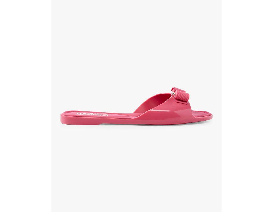 1fa1c4539fdb Lyst - Ferragamo Cirella Rubber Slide Sandals in Pink - Save 20%