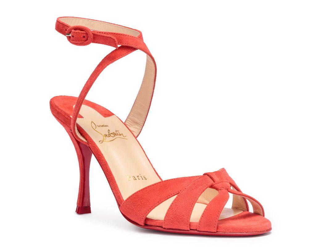 outlet store 917d7 fef31 Women's Trezuma 85 Light Red Suede Sandals
