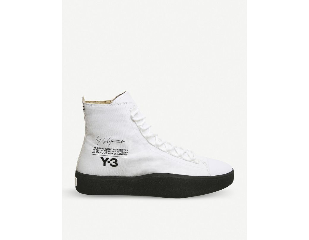 9f94c76e0 Lyst - Y-3 Y-3 Bashyo Suede High-top Trainers in White for Men ...