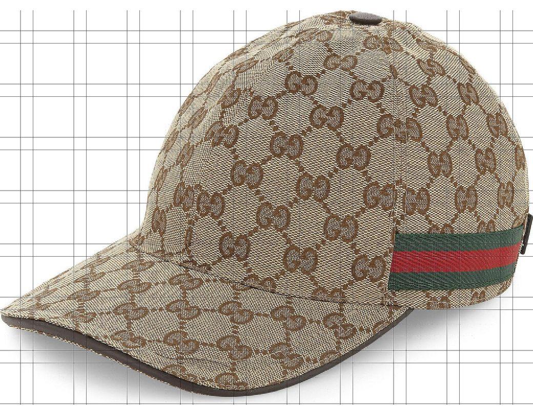 61918f08f17 Lyst - Gucci GG Web Stripe Baseball Cap in Brown for Men - Save 10%