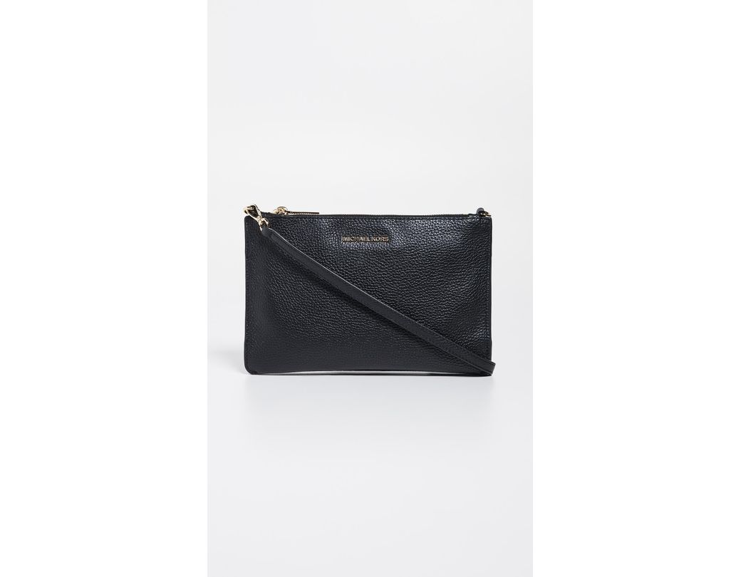 86f354eef6f8 Lyst - MICHAEL Michael Kors Large Double Pouch Crossbody Bag in Black