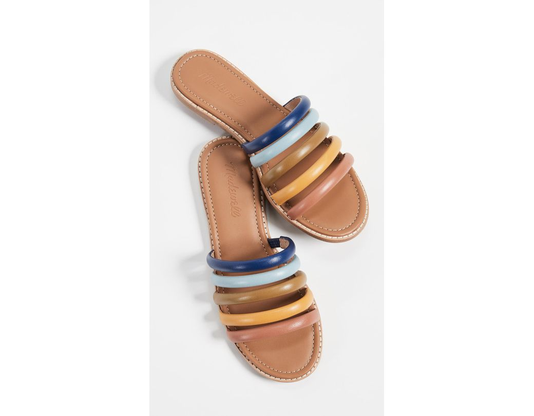 93793e3bc57a Lyst - Madewell The Addie Slide Sandals in Blue
