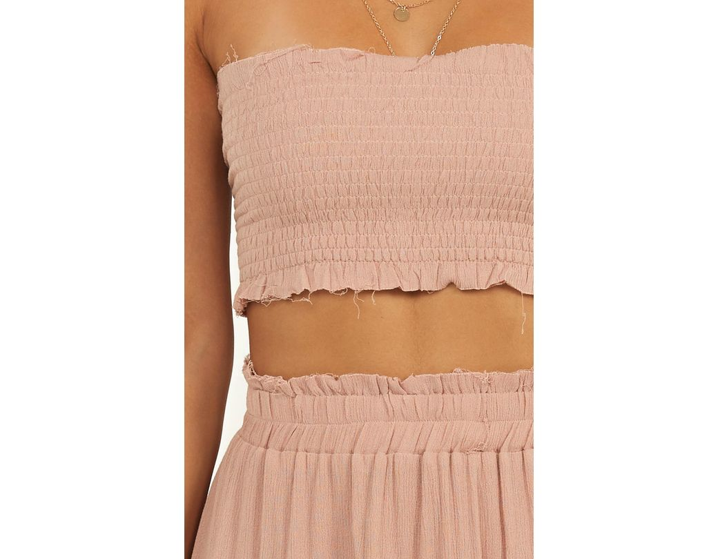 57a564d5f4 Showpo Outside The Line Two Piece Set in Pink - Lyst