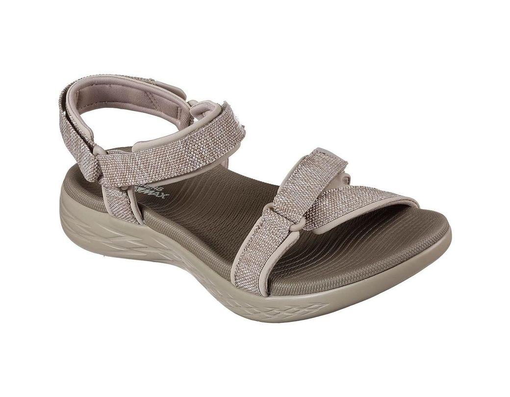 484b7aeef288 Skechers On The Go 600 Brilliancy 15316 Women s Sandals In Brown in ...
