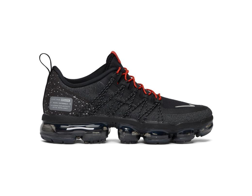 12517ea9aa0d Nike Black And Red Air Vapormax Run Utility Sneakers in Black for ...