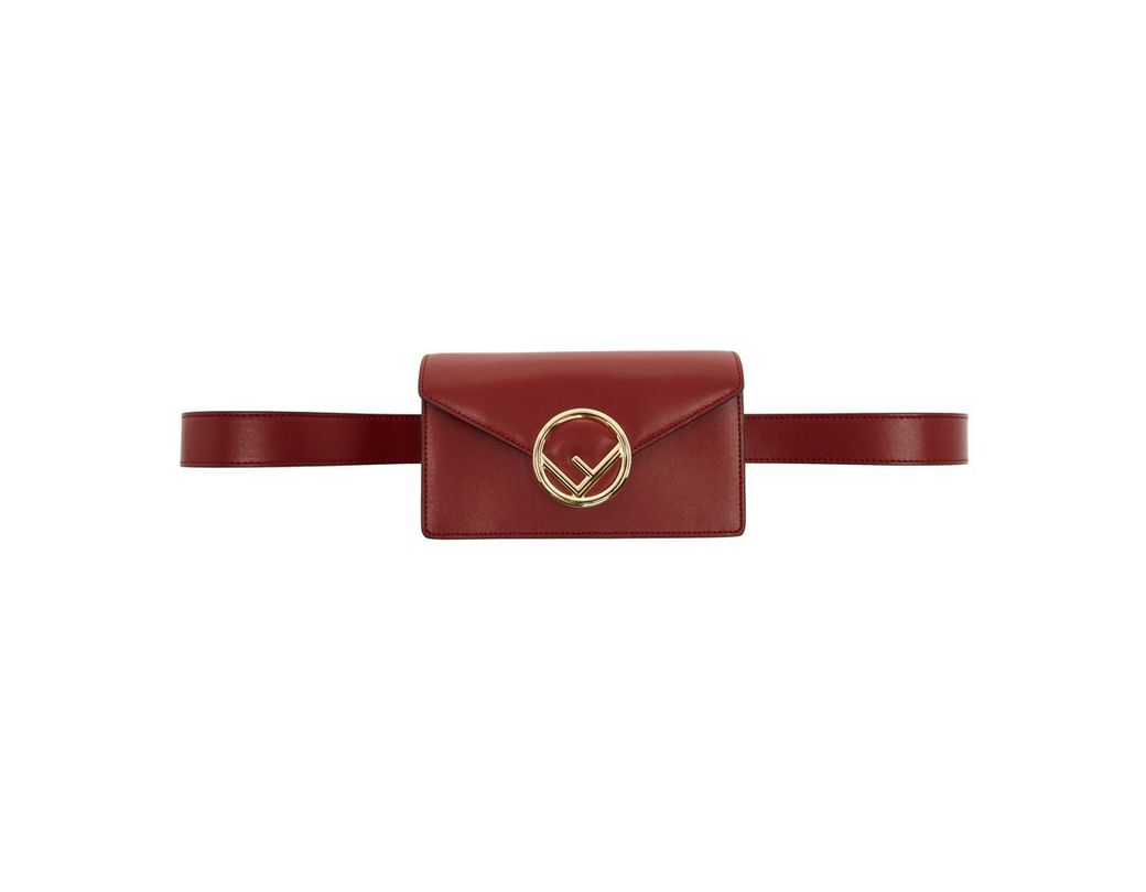 afdb4a2bee15 Lyst - Fendi Red F Is Belt Bag in Red