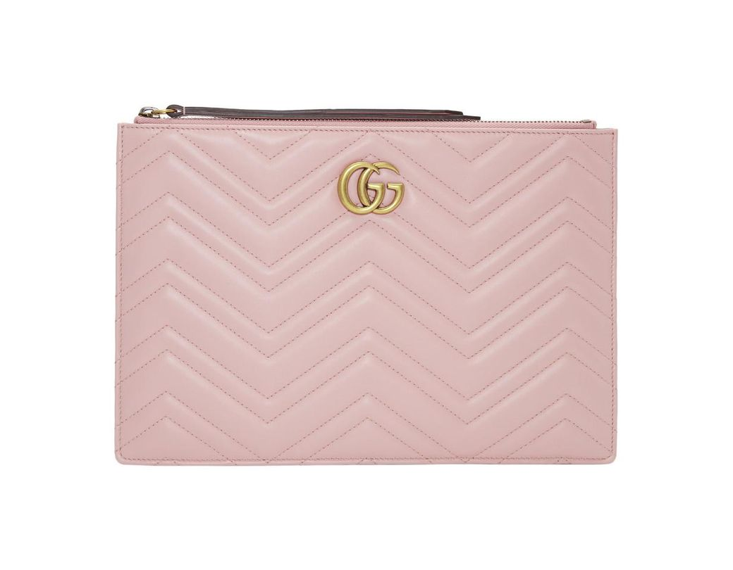 a581e30792a Gucci Pink GG Marmont 2.0 Pouch in Pink - Lyst