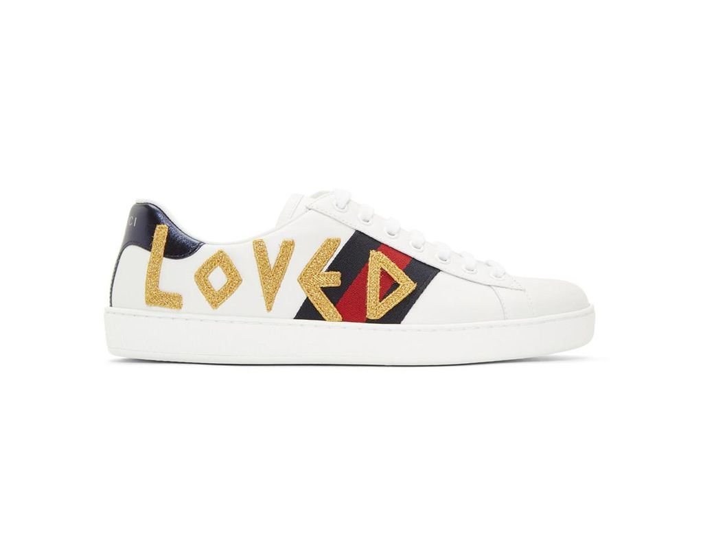 7adb50372c6 Gucci White Loved New Ace Sneakers in White for Men - Lyst