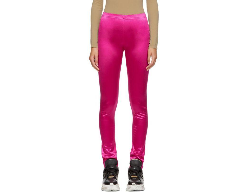 535d61c0260a8 Junya Watanabe Pink Satin Leggings in Pink - Lyst
