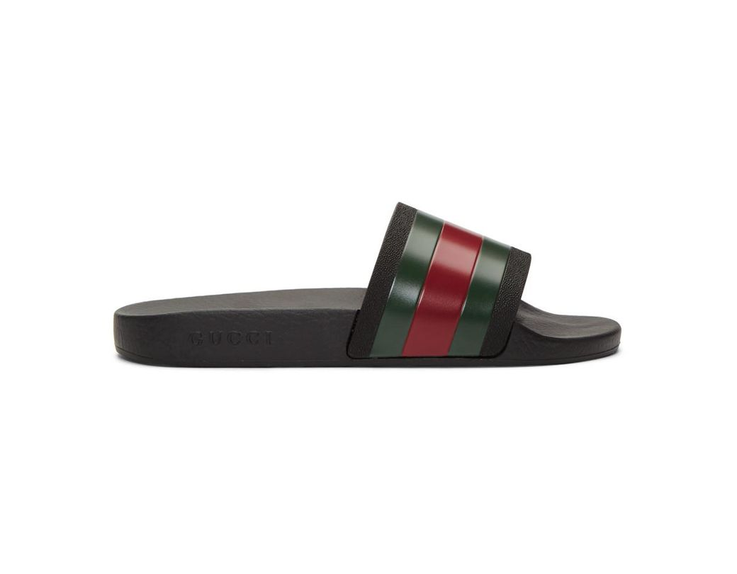 5bb0fba3ebb Lyst - Gucci Pursuit 72 Rubber Slides in Black for Men - Save 43%